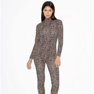 XS Leopard Catsuit American Apparel